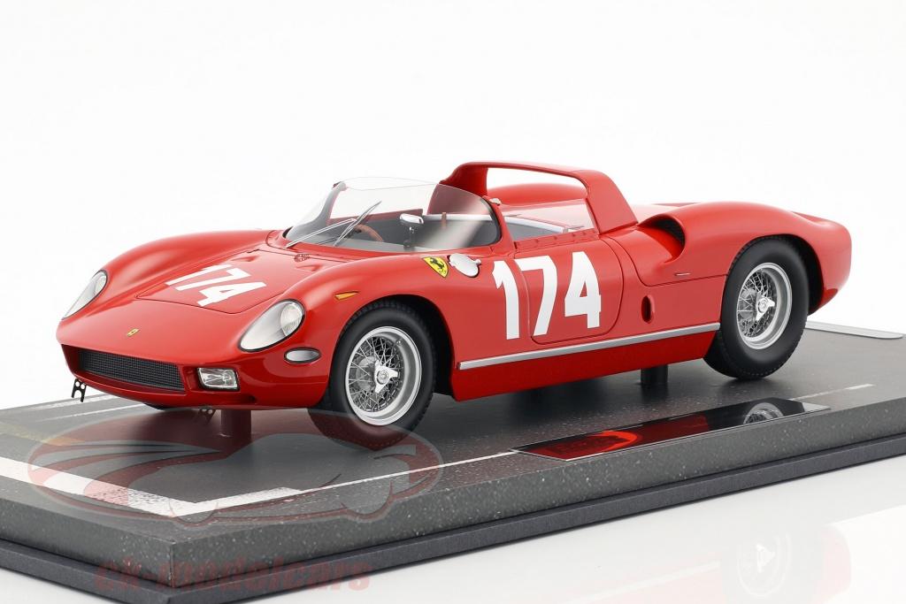 bbr-models-1-18-ferrari-250-p-no174-targa-florio-1963-parkes-surtees-bbrc1826f/