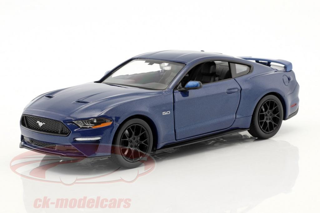 motormax-1-24-ford-mustang-gt-50-v8-anno-di-costruzione-2018-blu-metallico-79352b/