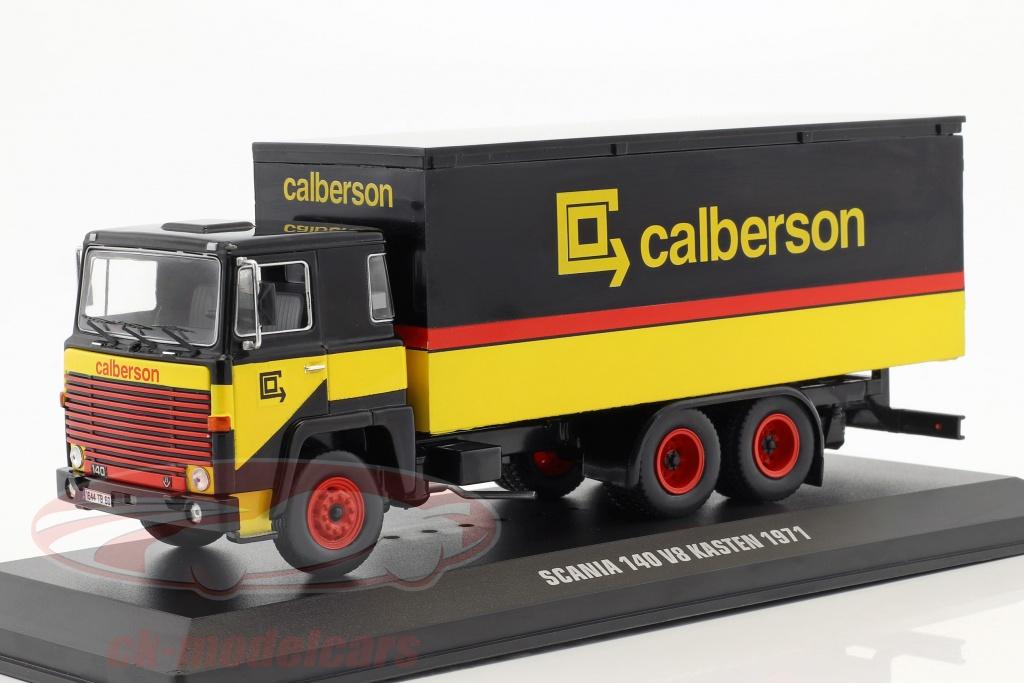 ixo-1-43-scania-140-v8-lkw-calberson-year-1971-yellow-black-red-tru031/