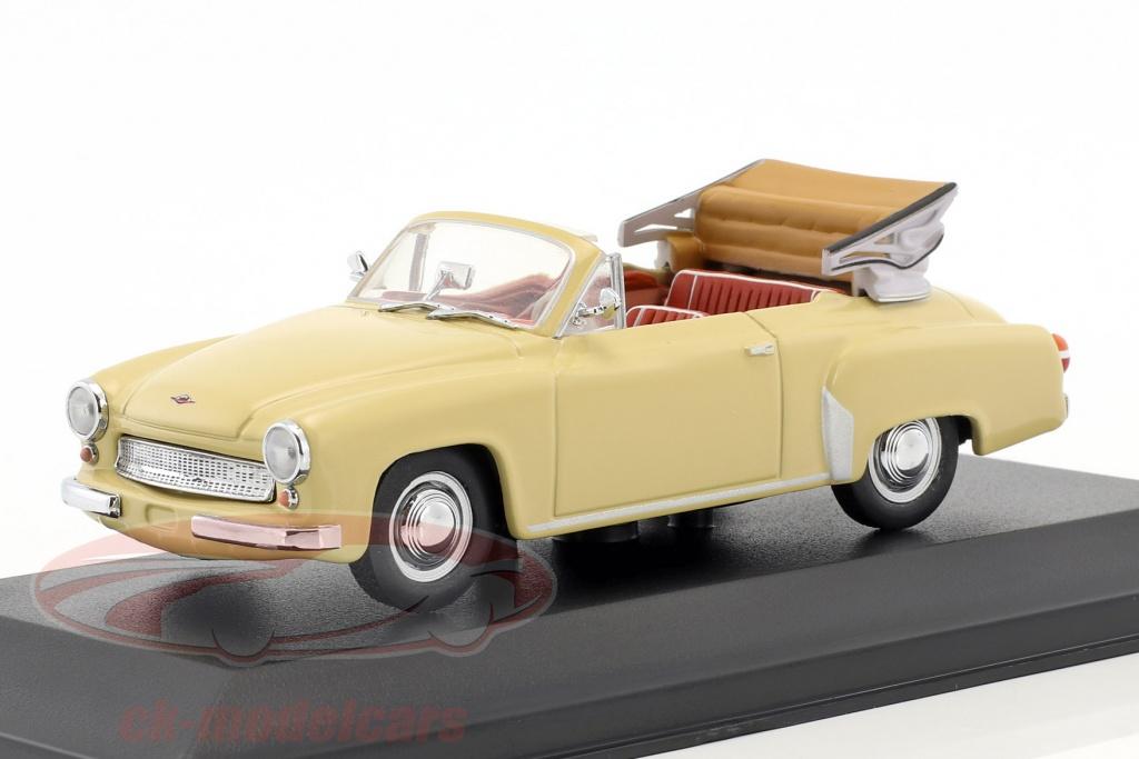 minichamps-1-43-wartburg-311-2-cabriolet-annee-de-construction-1957-1965-beige-faux-suremballage-ck50899/
