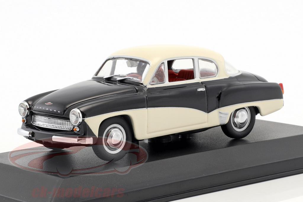 minichamps-1-43-wartburg-311-bouwjaar-1955-1965-zwart-wit-vals-oververpakking-ck50910/