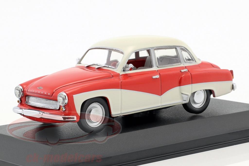 minichamps-1-43-wartburg-311-ano-de-construccion-1955-1965-rojo-blanco-falso-sobreembalaje-ck50909/