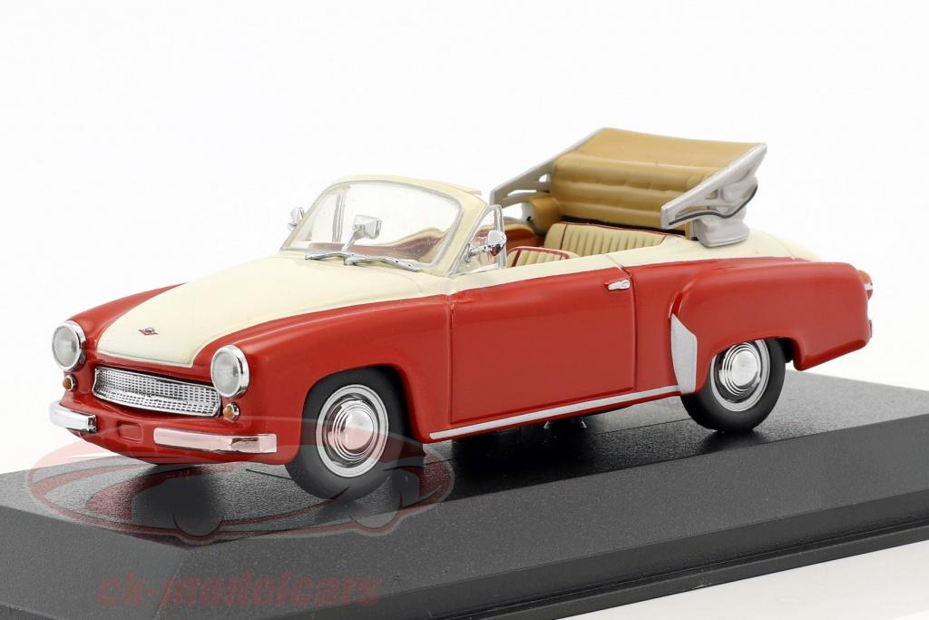 minichamps-1-43-wartburg-311-2-cabriolet-opfrselsr-1957-1965-rd-hvid-falsk-overpack-ck50905/