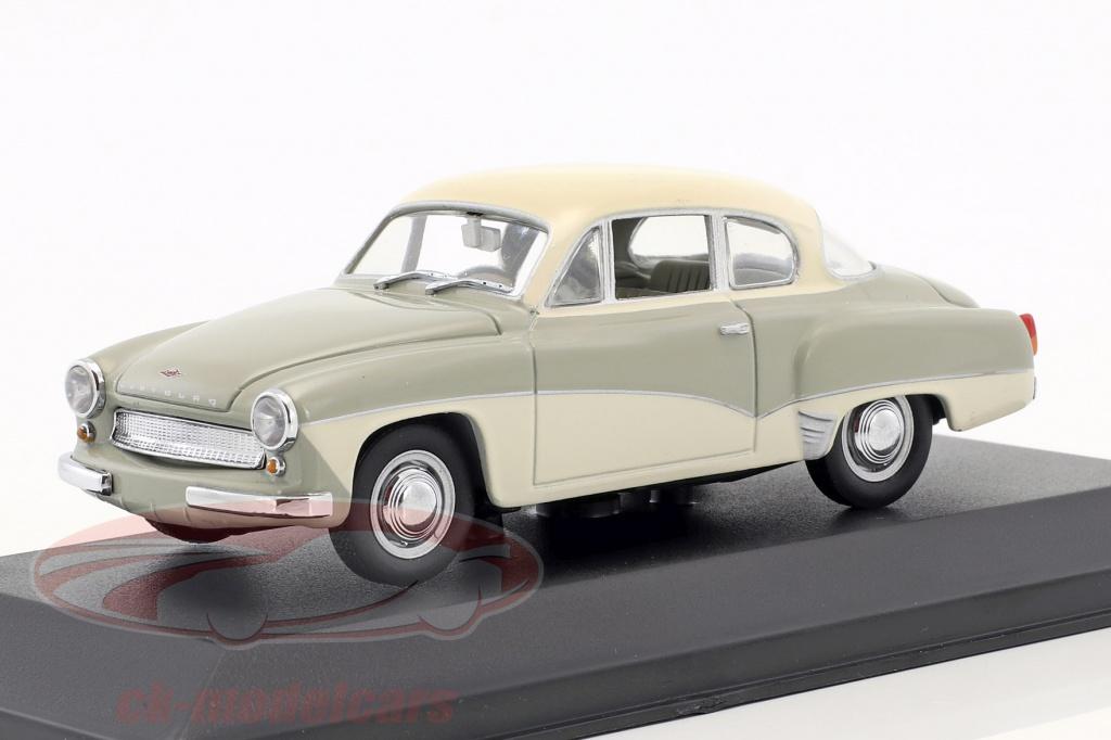 minichamps-1-43-wartburg-311-ano-de-construcao-1955-1965-cinza-branco-falso-overpack-ck50904/
