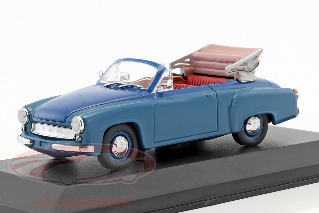 minichamps-1-43-wartburg-311-2-cabriolet-annee-de-construction-1957-1965-bleu-faux-suremballage-ck50900/