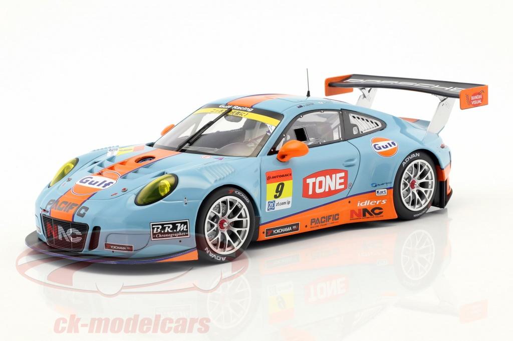 Porsche 911 Gt3 R 9 Super Gt 300 Series Okayama 2017 Jono Kyosuke 1 18 Minichamps