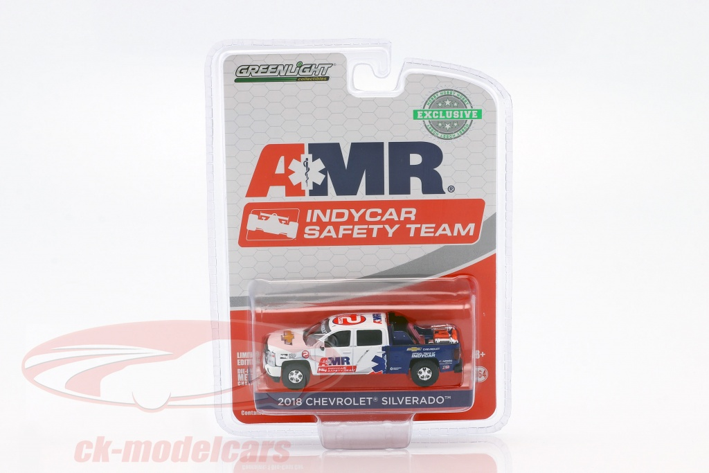 greenlight-1-43-chevrolet-silverado-pick-up-year-2018-amr-indycar-safety-team-with-equipment-1-64-29991/