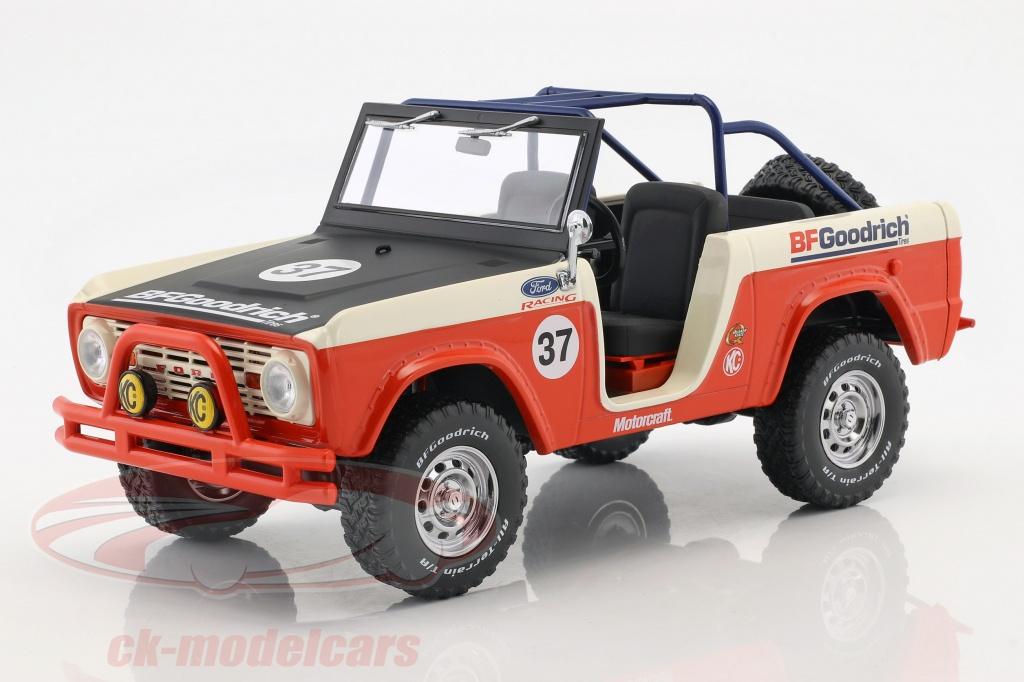 greenlight-1-18-ford-baja-bronco-opfrselsr-1966-rd-hvid-sort-19037/