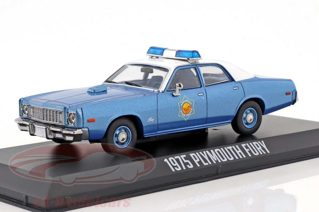 greenlight-1-43-plymouth-fury-arkansas-state-police-ano-de-construccion-1975-pelcula-smokey-and-the-bandit-1977-86536/