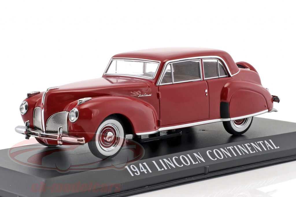 greenlight-1-43-lincoln-continental-annee-de-construction-1941-sombre-rouge-86324/