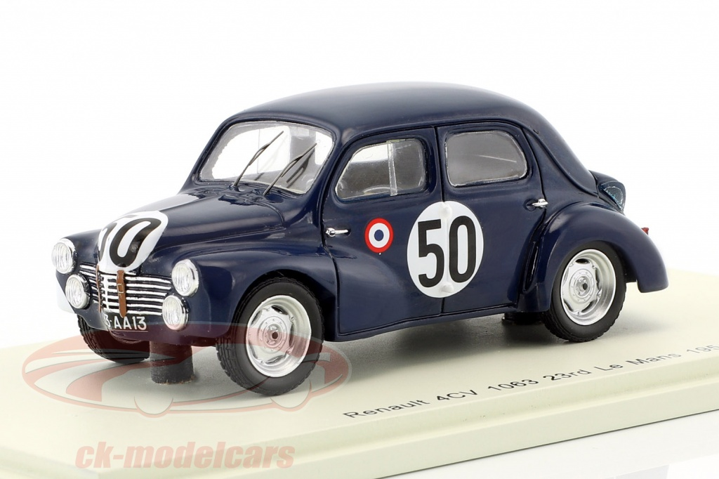 spark-1-43-renault-4cv-1063-no50-class-winner-750-cm-24h-lemans-1951-landon-briat-s5210/
