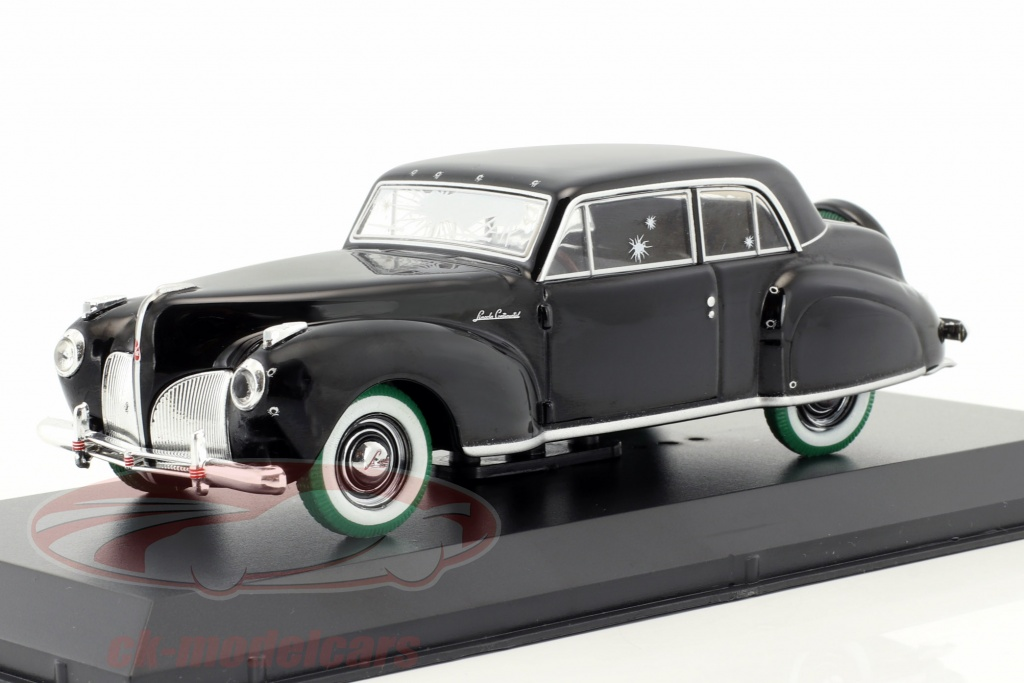 greenlight-1-43-lincoln-continental-with-bullet-hole-damage-movie-the-godfather-1972-black-green-86511-gruene-version/