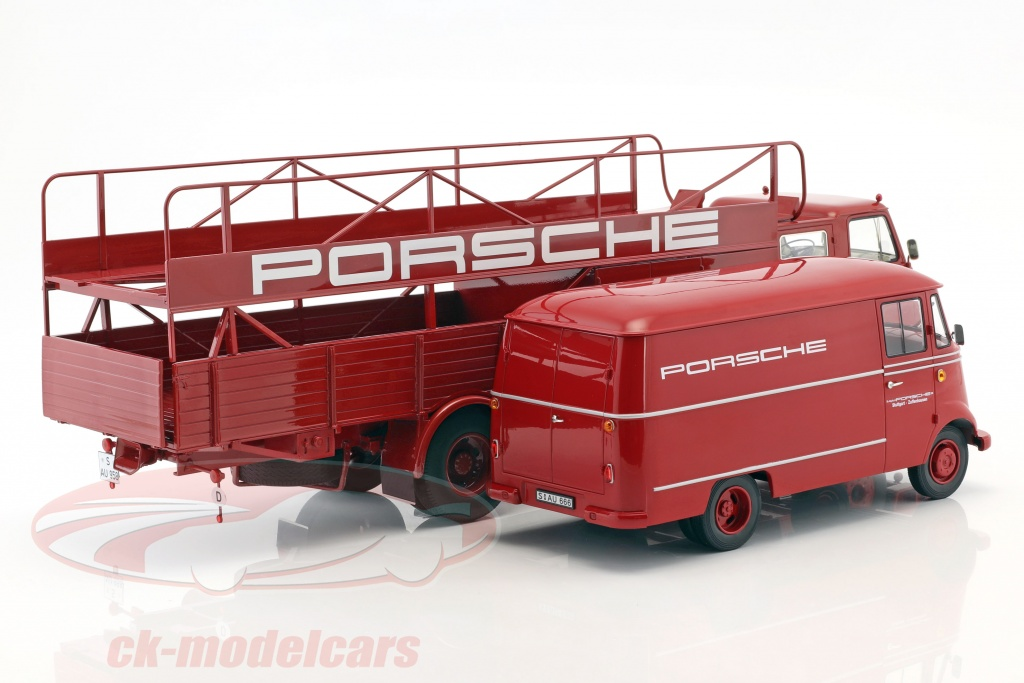 schuco-1-18-2-car-set-man-635-race-truck-og-mercedes-benz-l319-porsche-renndienst-norev-450008100-183416/