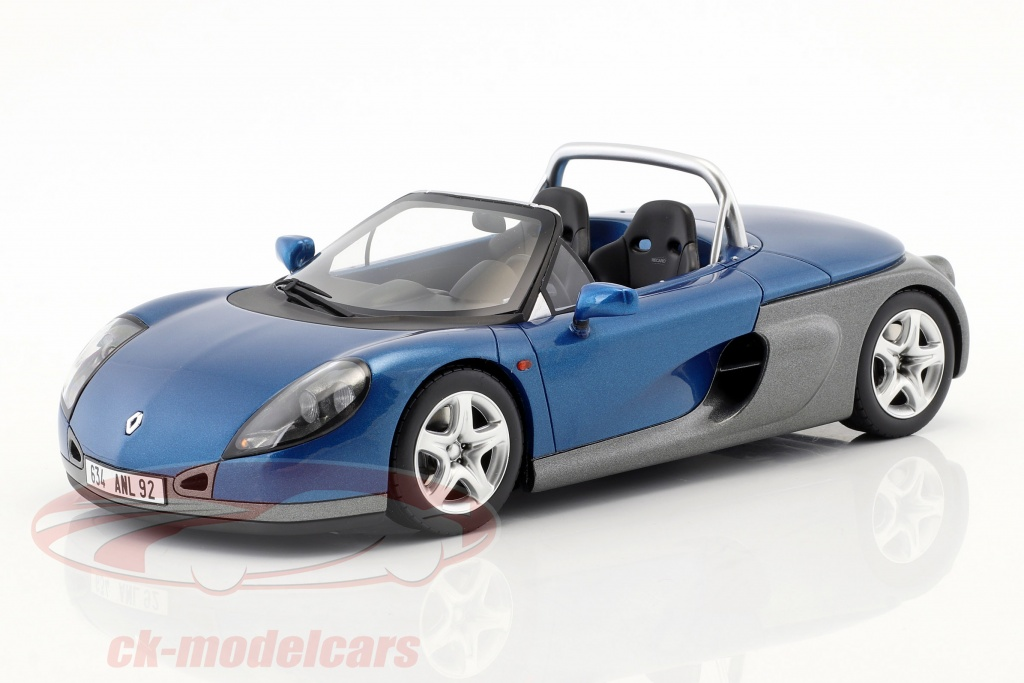 ottomobile-1-18-renault-spider-ano-de-construcao-1998-esportes-azul-metalico-ot748/