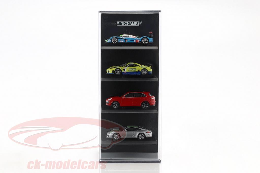 acrylique-vitrine-fuer-4-voitures-de-modele-en-echelle-1-87-noir-minichamps-870vitr01/