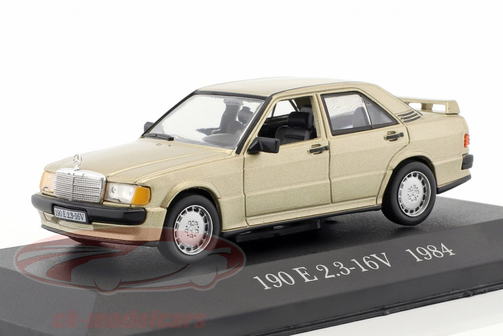 altaya-1-43-mercedes-benz-190-e-23-16v-w201-annee-de-construction-1984-or-metallique-ck51529-51/