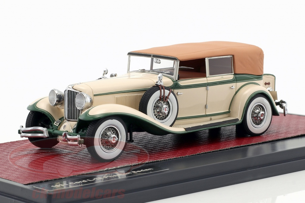 matrix-1-43-cord-l-29-phaeton-sedan-closed-top-opfrselsr-1931-creme-hvid-grn-mx40307-012/