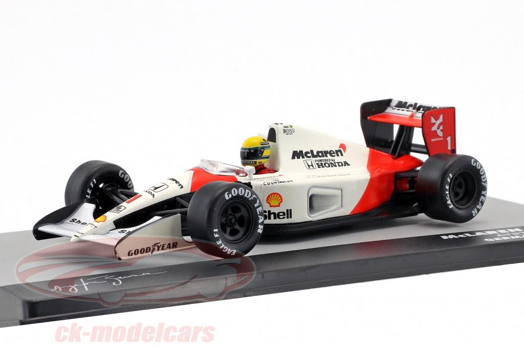 altaya-1-43-ayrton-senna-mclaren-mp4-6-no1-verdensmester-tyskland-gp-formel-1-1991-ck33066/
