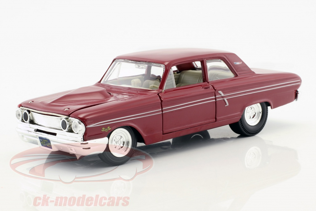 maisto-1-24-ford-fairlane-thunderbolt-annee-de-construction-1964-sombre-rouge-31957/