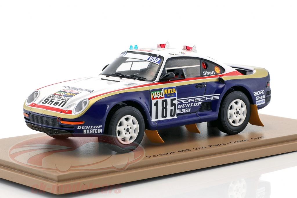 spark-1-43-porsche-959-no185-2nd-rallye-paris-dakar-1986-ickx-brasseur-s7814/