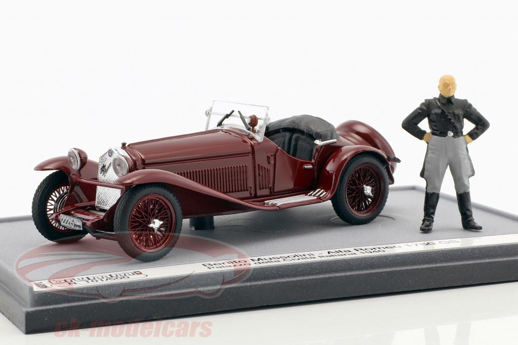 brumm-1-43-alfa-romeo-1750-gs-palazzo-della-civilta-italiana-1940-with-figure-b-mussolini-maroon-as37c/