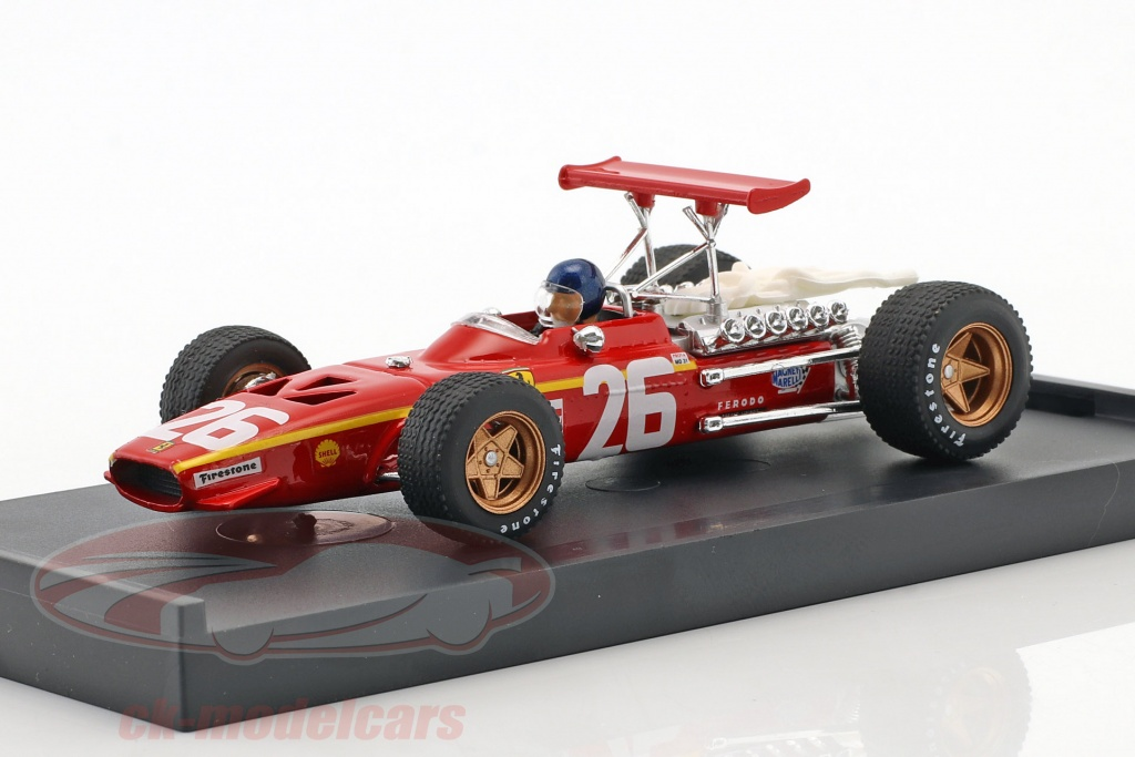 brumm-1-43-jacky-ickx-ferrari-312-f1-no26-vinder-frankrig-gp-formel-1-1968-med-chauffr-figur-r171-ch/