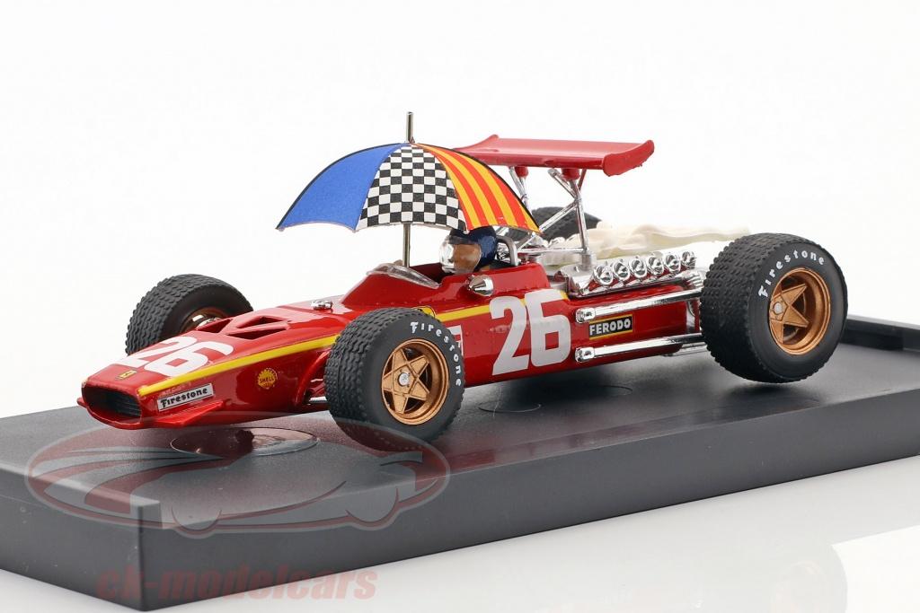 brumm-1-43-jacky-ickx-ferrari-312-f1-no26-winner-frankreich-gp-formel-1-1968-mit-schirm-r171-chu/
