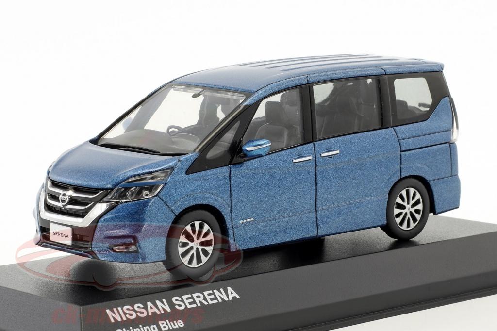 kyosho-1-43-nissan-serena-c27-year-2016-blue-metallic-03662bl/