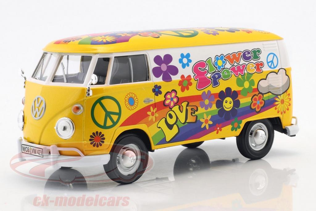 motormax-1-24-volkswagen-vw-type-2-t1-transporter-flower-power-2-gelb-orange-79575/