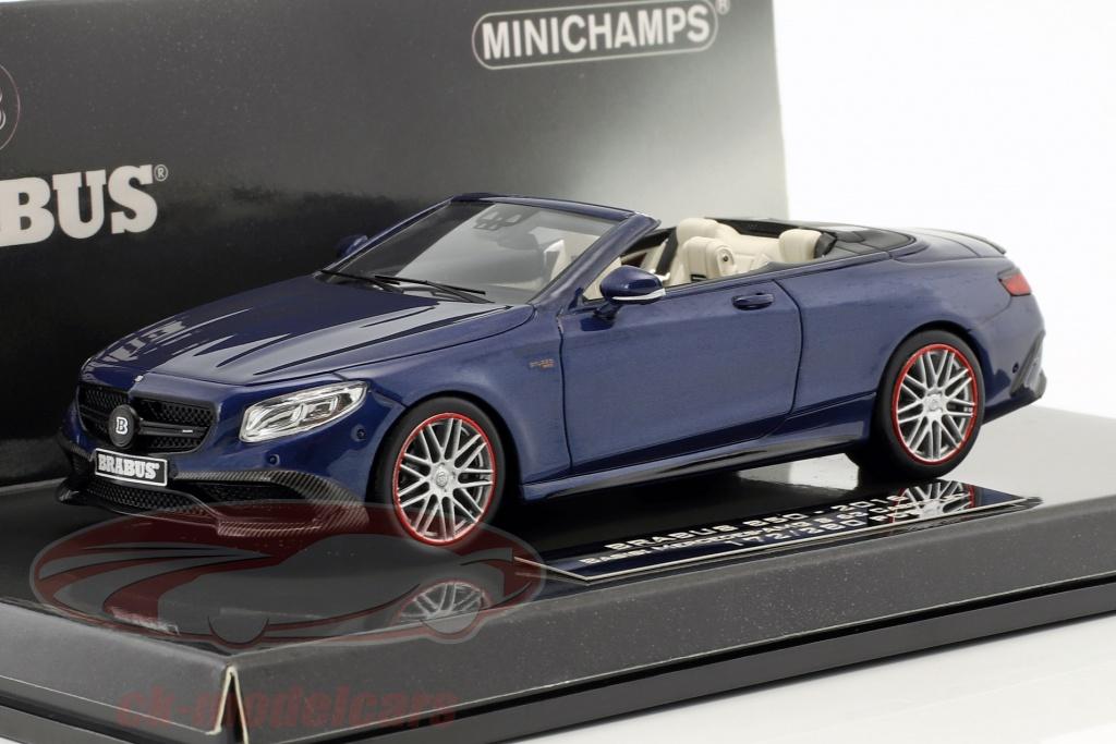 minichamps-1-43-brabus-850-auf-basis-mercedes-benz-amg-s-63-cabriolet-baujahr-2016-dunkelblau-437034231/