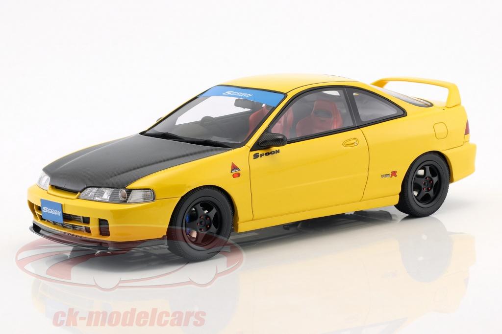 ottomobile-1-18-honda-integra-dc2-spoon-annee-de-construction-1998-sunlight-jaune-ot792/