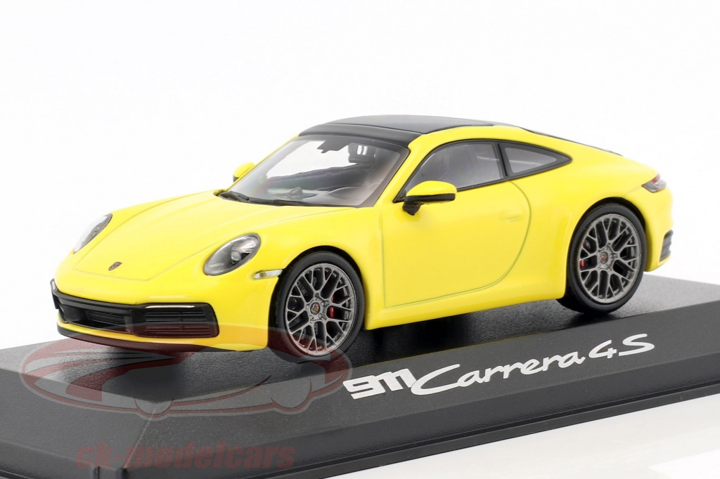 minichamps-1-43-porsche-911-992-carrera-4s-coupe-annee-de-construction-2019-racing-jaune-wap0201720k/