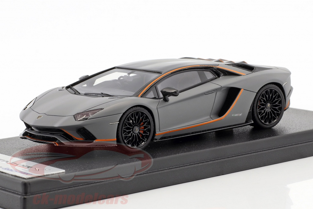 looksmart-1-43-lamborghini-aventador-s-year-2017-matt-grey-orange-ls468se/
