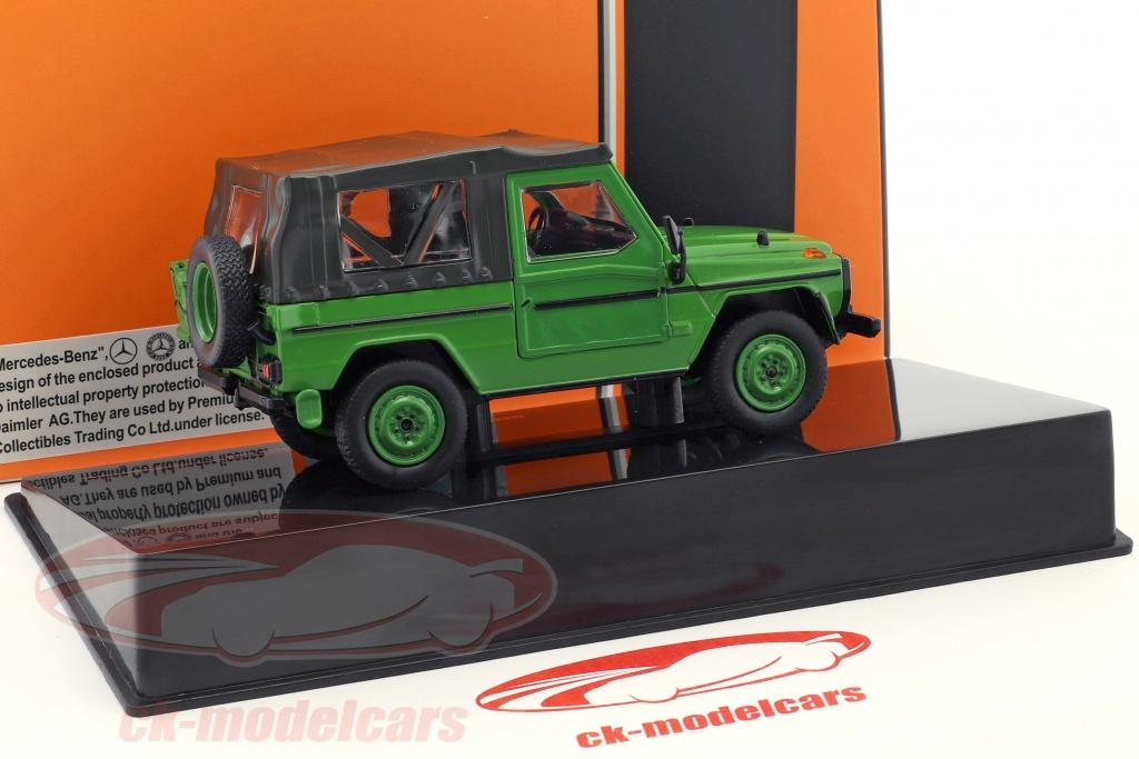 ixo-1-43-mercedes-benz-240-g-class-swb-softtop-annee-de-construction-1986-vert-clc286/