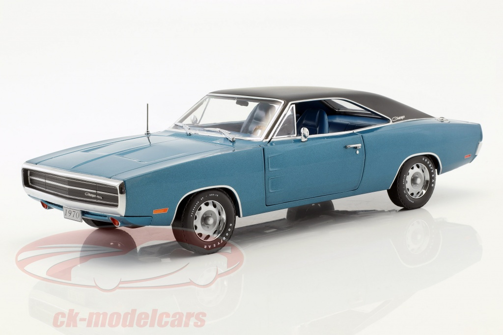 greenlight-1-18-dodge-charger-500-se-annee-de-construction-1970-bleu-noir-13530/