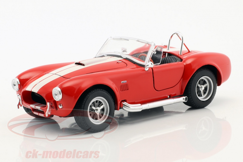 welly-1-24-shelby-cobra-sc-427-opfrselsr-1965-rd-hvid-24002r/