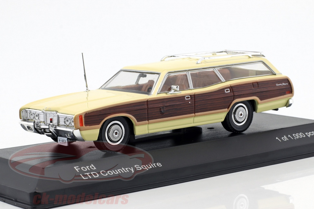 whitebox-1-43-ford-ltd-country-squire-year-1972-bright-yellow-brown-wb291/