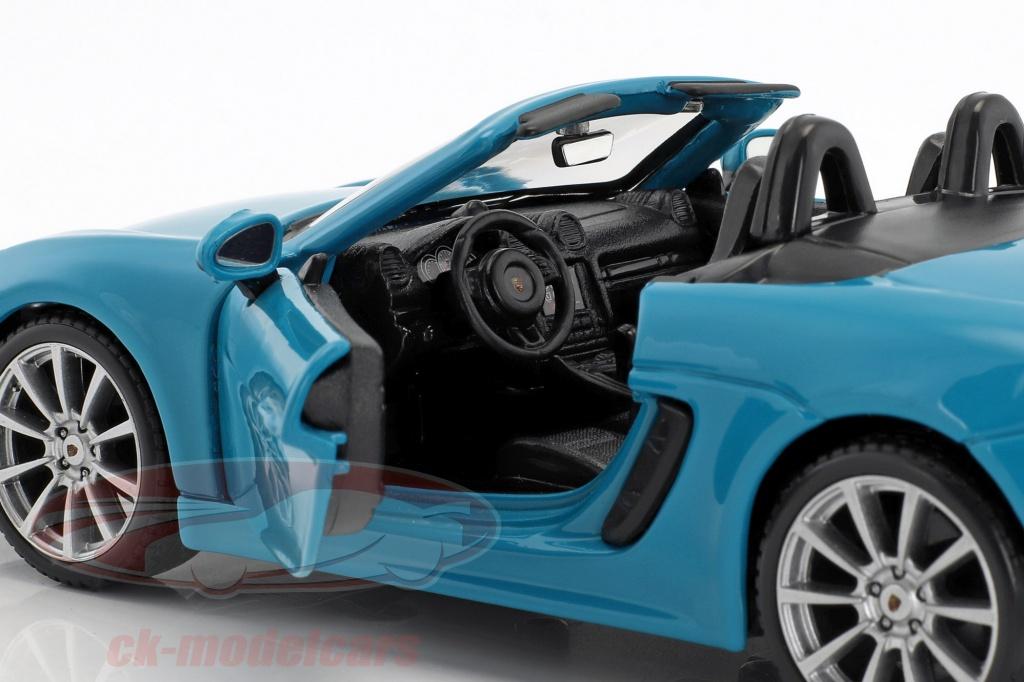Porsche 718 Boxster 982 Cabrio Lava Orange Rot Ab 2016 1//24 Bburago Modell Auto