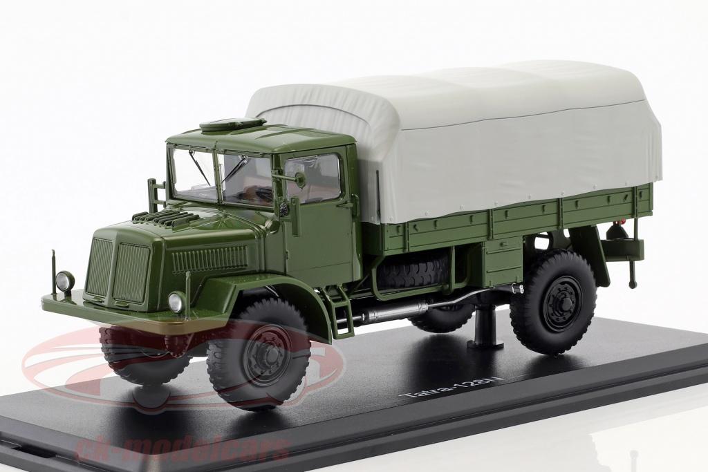 premium-classixxs-1-43-tatra-128n-truck-with-plans-year-1951-olive-gray-pcl47077/