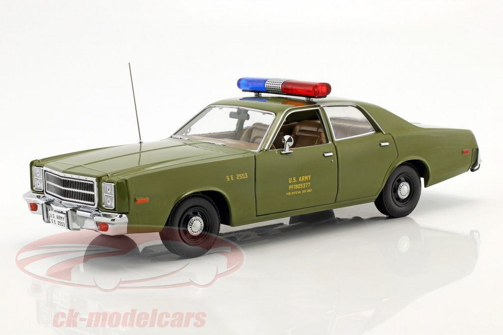 greenlight-1-18-plymouth-fury-year-1977-tv-series-the-a-team-1983-1987-olive-green-19053/