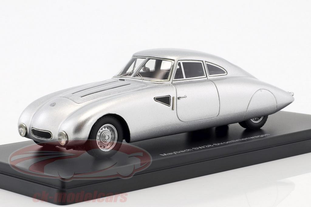 neo-1-43-maybach-sw38-gestroomlijnde-auto-bouwjaar-1939-zilver-neo46346/