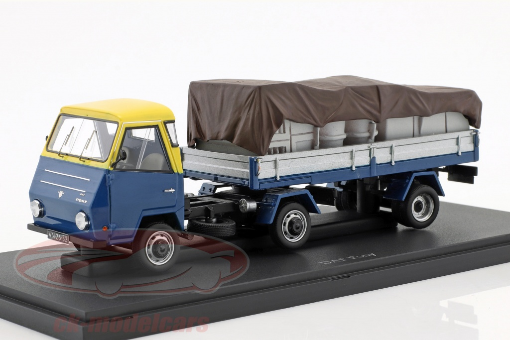 autocult-1-43-daf-pony-paesi-bassi-anno-1968-blu-giallo-argento-atc08010/
