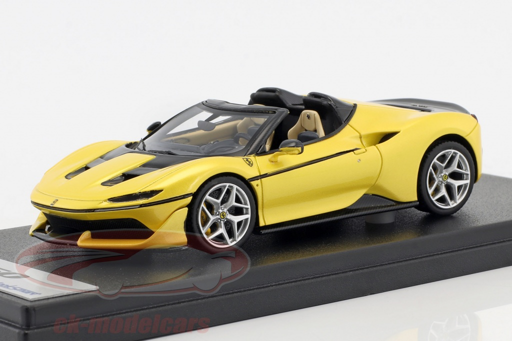 looksmart-1-43-ferrari-j50-roadster-year-2016-tristrato-yellow-ls485e/