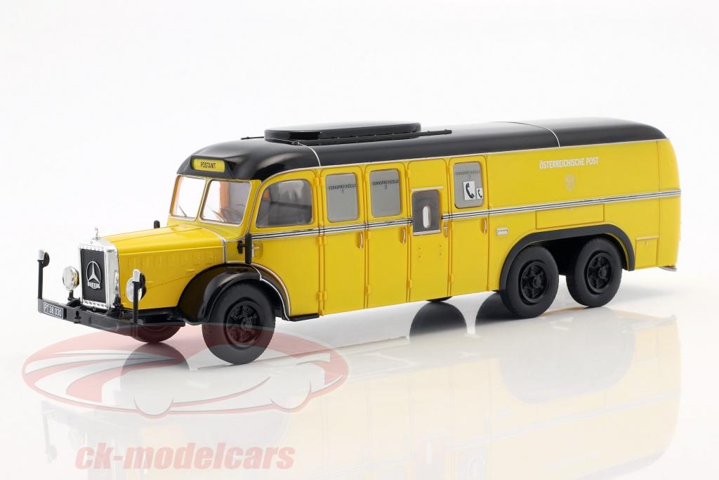 altaya-1-43-mercedes-benz-o10000-bus-mail-oostenrijk-bouwjaar-1938-geel-mag-hc68/