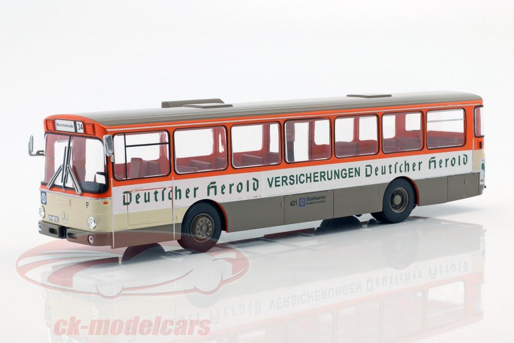 altaya-1-43-mercedes-benz-o305-bus-deutscher-herold-opfrselsr-1979-appelsin-hvid-beige-mag-hc65/