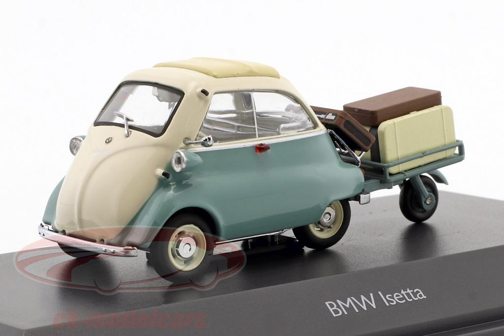 schuco-1-43-bmw-isetta-con-trailer-e-bagaglio-auto-porter-turchese-beige-450260400/