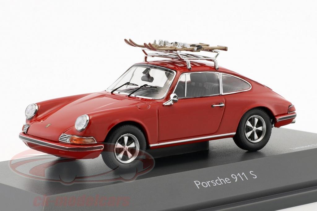 schuco-1-43-porsche-911-s-skivakantie-rood-450258700/