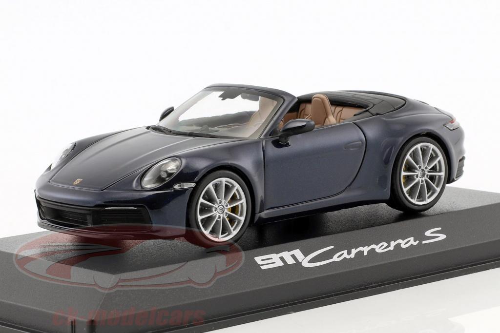 minichamps-1-43-porsche-911-992-carrera-2s-cabriolet-opfrselsr-2019-nat-bl-metallisk-wap0201710k/