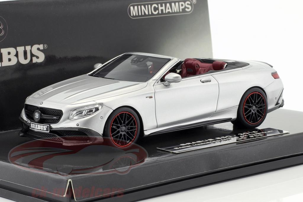 minichamps-1-43-brabus-850-auf-basis-mercedes-benz-amg-s63-cabriolet-baujahr-2016-silber-437034232/
