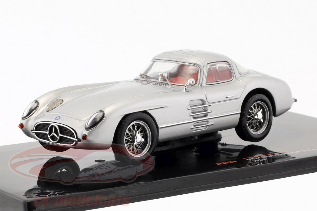 ixo-1-43-mercedes-benz-300-slr-coupe-uhlenhaut-w196s-bouwjaar-1955-zilver-clc284/